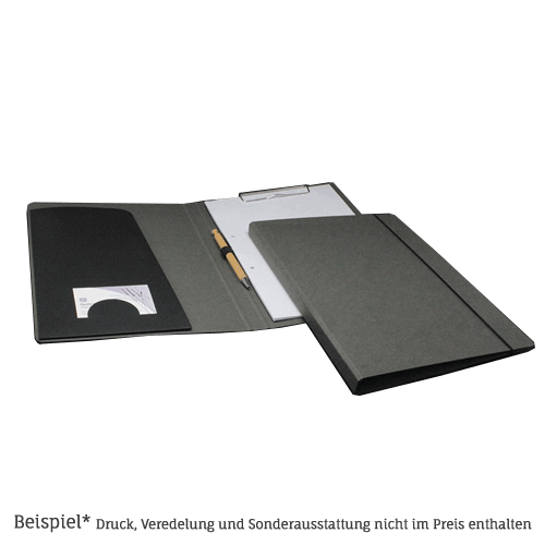1210 Schreibmappe Graphit-Grau aus Altpapier