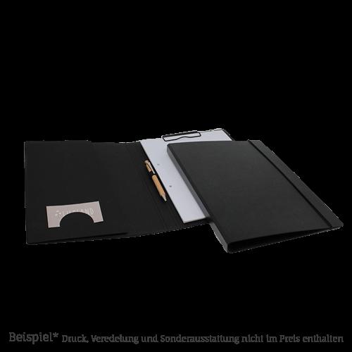 1410 Schreibmappe tiefschwarz karton