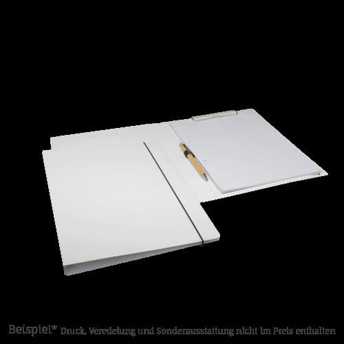 210 LG Schreibmappe Karton in weiss